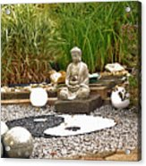 Buddha Looks At Yin And Yang Acrylic Print