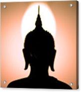 Buddha Silhouette Acrylic Print