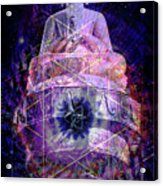 Buddha Spinning In A Merkaba Acrylic Print