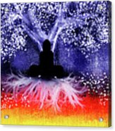 Buddha Under The Wisdom Tree Acrylic Print