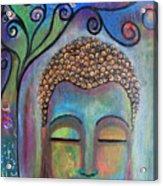 Buddha With Tree Of Life Acrylic Print
