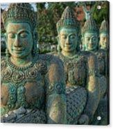Buddhas All In A Row Acrylic Print