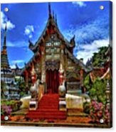 Buddhist Temples In Chiang Mai Acrylic Print