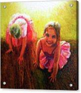 Budding Ballerinas Acrylic Print