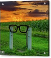 Buddy Holly Glasses Acrylic Print