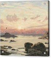 Bude Sands At Sunset Acrylic Print by John Brett