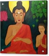 Budha Blessing Acrylic Print