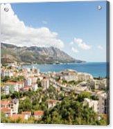 Budva Along The Adriatic Sea In Montenegro Acrylic Print