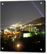Budva At Night, Montenegro Acrylic Print
