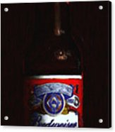 Budweiser - King Of Beers Acrylic Print by Wingsdomain Art and Photography