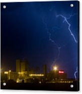 Budweiser Beer Brewery Storm Acrylic Print
