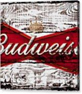 Budweiser Wood Art 5a Acrylic Print