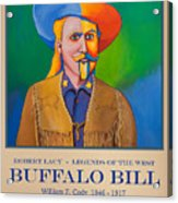 Buffalo Bill Poster Acrylic Print