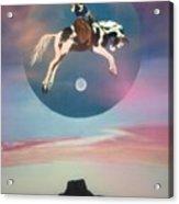 Buffalo Girls Over Abiquiu I Acrylic Print