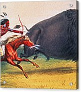 Buffalo Hunt, C1832 Acrylic Print