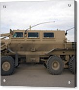 Buffalo Mine Protected Vehicle Acrylic Print by Terry Moore