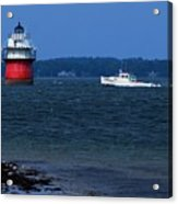 Bug Light And Lobster Boat Acrylic Print