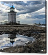 Bug Light Clouds And Reflection Acrylic Print