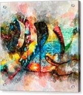 Bug Watercolor Acrylic Print