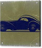 Bugatti 57 S Atlantic Acrylic Print by Naxart Studio