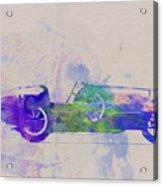 Bugatti Type 35 R Watercolor 2 Acrylic Print by Naxart Studio