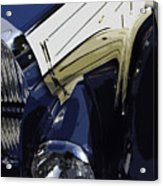 Bugatti Type 57 In Blue And White Acrylic Print