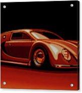 Bugatti Veyron 'beetgatti' 1945 Painting Acrylic Print