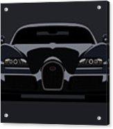 Bugatti Veyron Dark Acrylic Print