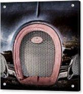 Bugatti Veyron Legend Grille Emblem -0488ac Acrylic Print