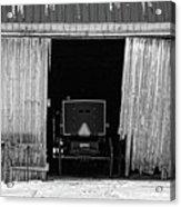 Buggy In The Barn Acrylic Print