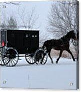 Buggy On Winter Road Acrylic Print