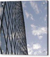Building And Cloudy Sky Acrylic Print