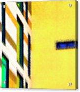 Building Block - Yellow Acrylic Print