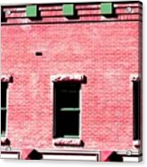 Building In Red And Green Acrylic Print