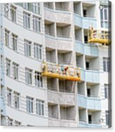 Building Workers Acrylic Print
