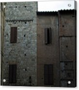Buildings On A Side Street In Siena Acrylic Print
