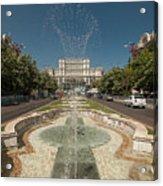 Bukarest Government Palace Acrylic Print