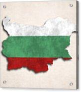 Bulgaria Map Art With Flag Design Acrylic Print