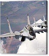 Bulgarian And Polish Air Force Mig-29s Acrylic Print