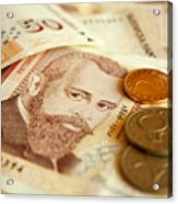 Bulgarian Money Acrylic Print