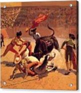 Bull Fight In Mexico 1889 Acrylic Print