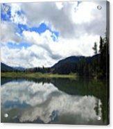 Bull Lake Cloud Reflection Acrylic Print