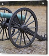 Bull Run Green Cannon In Field Acrylic Print