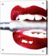 Bullet Lips Acrylic Print