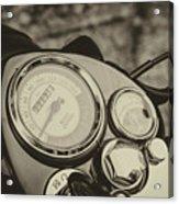 Bullet Speedometer Acrylic Print