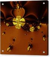 Bumble Beez Over Chocolate Lake . Square . S19 Acrylic Print