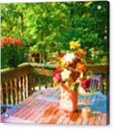 Bumble Deck Flowers Acrylic Print