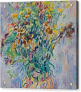 Bunch Of Wild Flowers In A Vase Acrylic Print