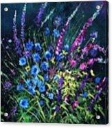 Bunch Of Wild Flowers Acrylic Print by Pol Ledent