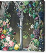 Bunches Of Roses Ipomoea And Grapevines Acrylic Print